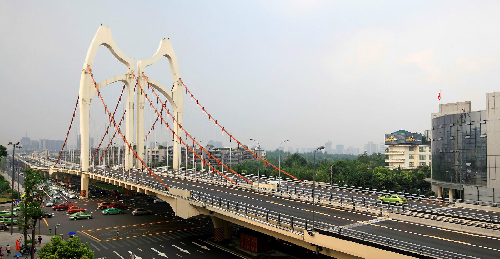 建成后的成都清水河大桥